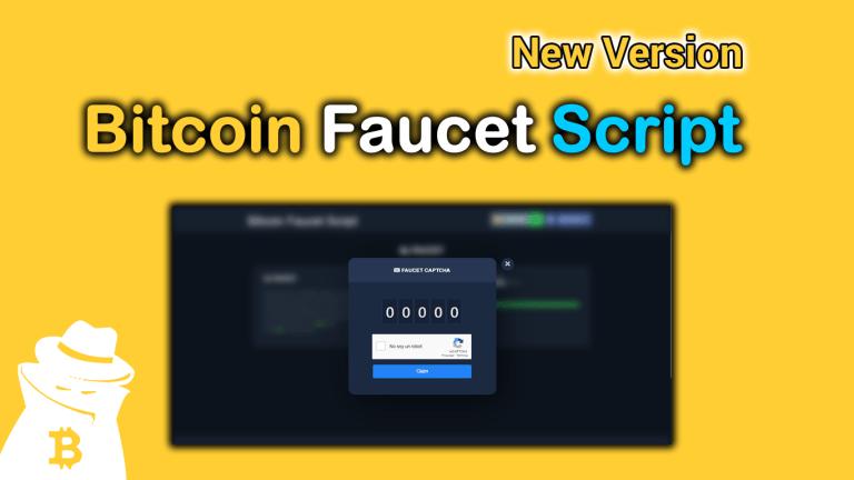 Bitcoin Faucet Script New Version ✅ 2021