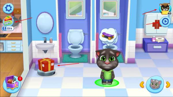 my talking tom friends advertising
