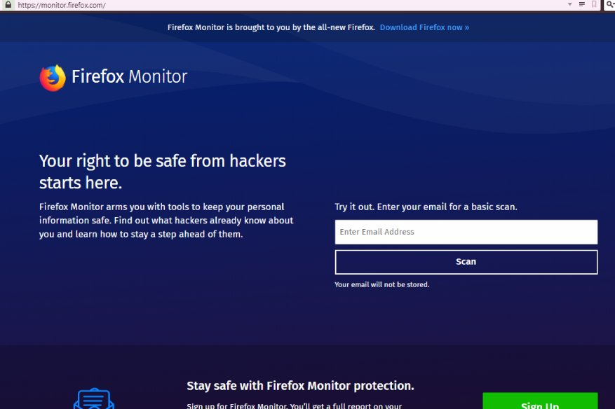 Firefox Monitor, Security Breach Email Checker Released to the Public