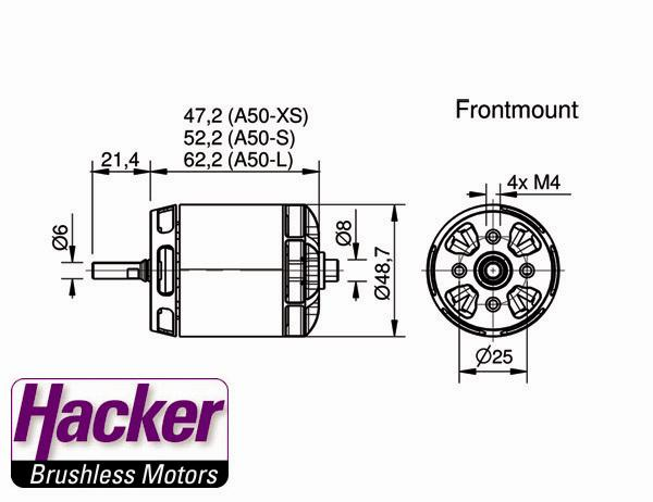 Hacker A50 12S brushless motors