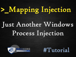 Mapping Injection