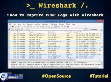 Capture PCAP Logs in Wireshark