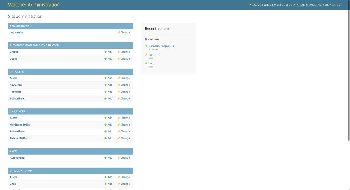 Watcher-admin-interface