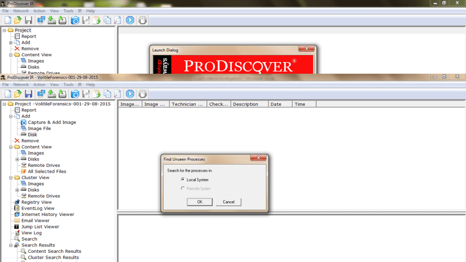 ProDiscover Incident Response Unseen Processes