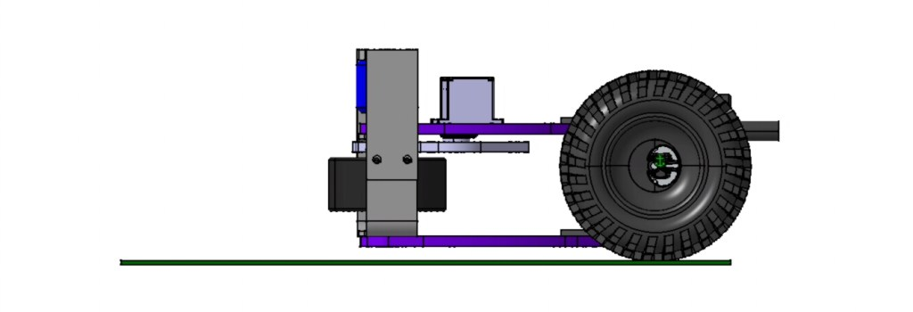 Ball Flinger Assy Cad Model Side View