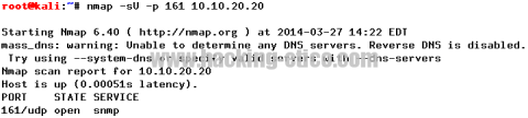 Escaneando SNMP con Nmap