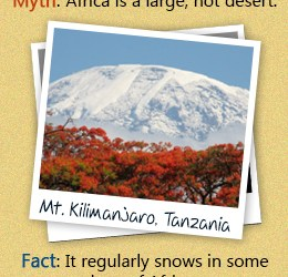 It regularly snows in some regions of Africa