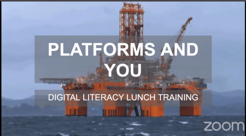 Platforms and you digital literacy training