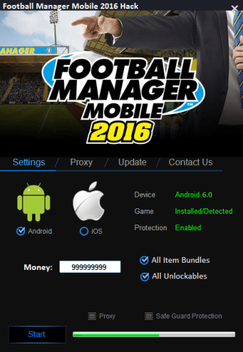 Football Manager Mobile 2016 Hack