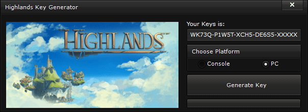 highlands key generator free activation code 2015 Highlands Key Generator – FREE Activation Code 2015