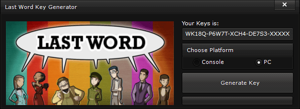 last word key generator free activation code 2015 Last Word Key Generator – FREE Activation Code 2015