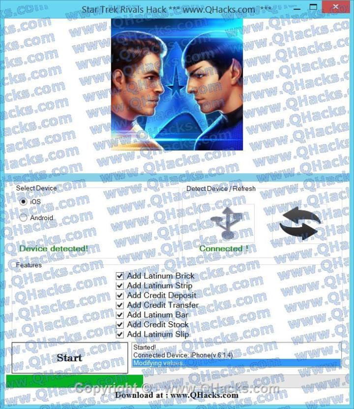 Star Trek Rivals hacks
