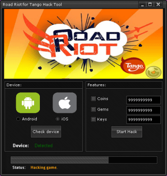 road riot for tango hack androidios 2014 Road Riot for Tango Hack (Android/iOS) 2014
