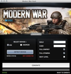 Modern War Hack – Unlimited Gold and Cash Cheats