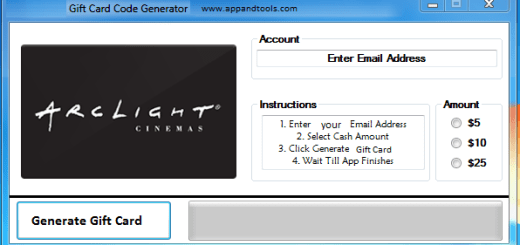 ArcLight Cinemas Gift Card Generator We are offering ArcLight Cinemas Gift Card Generator. In this post we are going to review you how to get the gift card for free, without paying anything. Why using your credit card and spending a lot of money if you don't need to do that? :) Here is this awesome tool, easy to use. Here is the best tool available on internet regarding this kind of store, ArcLight Cinemas Gift Card Generator.