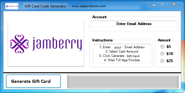 Jamberry Nails Gift Card Generator