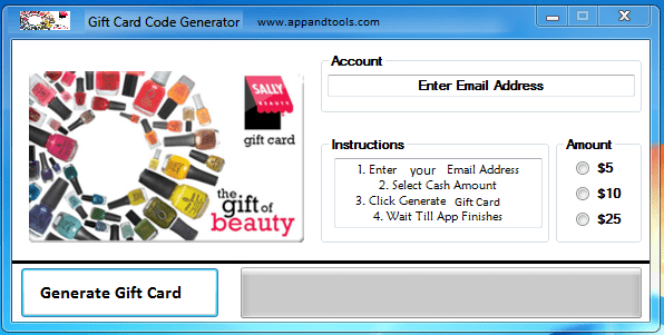 Sally Beauty Supply Gift Card Generator