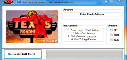 Texas Roadhouse Gift Card Generator We are offering Texas Roadhouse Gift Card Generator. In this post we are going to reviewyou how to get the gift cardfor free, without paying anything. Why using your credit card and spending a lot of money if you don't need to do that? :) Here isthis awesome tool, easy to use. Here is the best tool available on internet regarding this kind of store, Texas RoadhouseGift Card Generator.