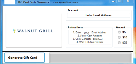 Walnut Grill Restaurant Gift Card Generator We are offering Walnut Grill Restaurant Gift Card Generator. In this post we are going to review you how to get the gift card for free, without paying anything. Why using your credit card and spending a lot of money if you don't need to do that? :) Here is this awesome tool, easy to use. Here is the best tool available on internet regarding this kind of store, Walnut Grill Restaurant Gift Card Generator.