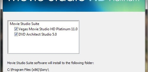 Sony Vegas Movie Studio 11 HD platinum Serial Number Free