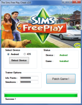 The Sims FreePlay Hack Cheat