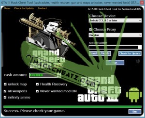 GTA III Hack Cheat Tool