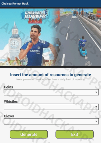 Chelsea Runner Hack APK Coins, Whistles and Clover