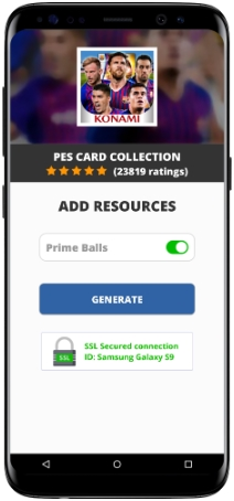 PES Card Collection MOD APK Unlimited Prime Balls