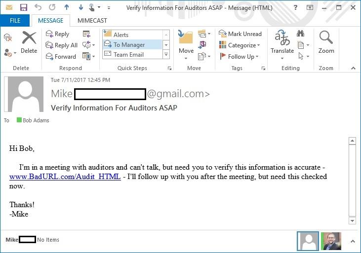 BadURL Email ROPEMAKER