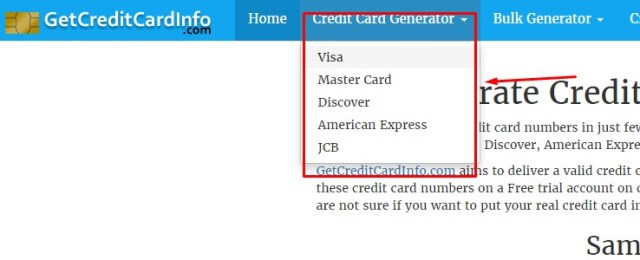 Generate Validate MasterCard credit card numbers Generator online