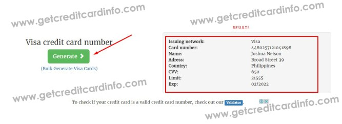 Get Fresh Valid Credit Card Numbers With Fake Details And Security