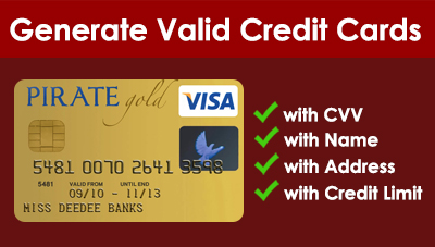 Image Result For Free Fake Credit Card Info