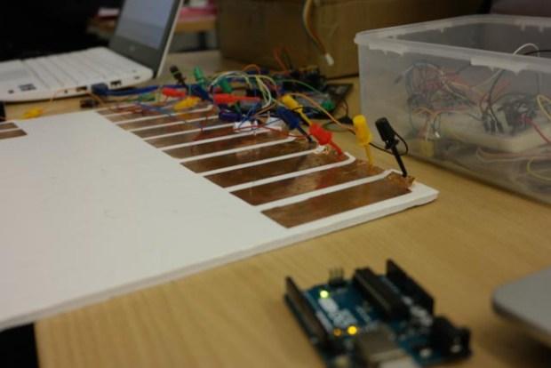 Capacitative MIDI controller