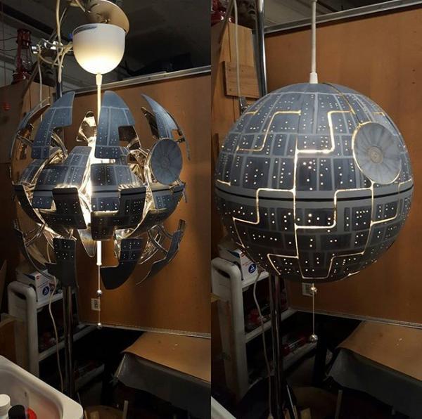 Ikea Pendant Death Star Light Hack