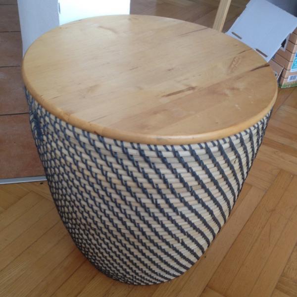Easy Ikea Basket Table Storage Hack
