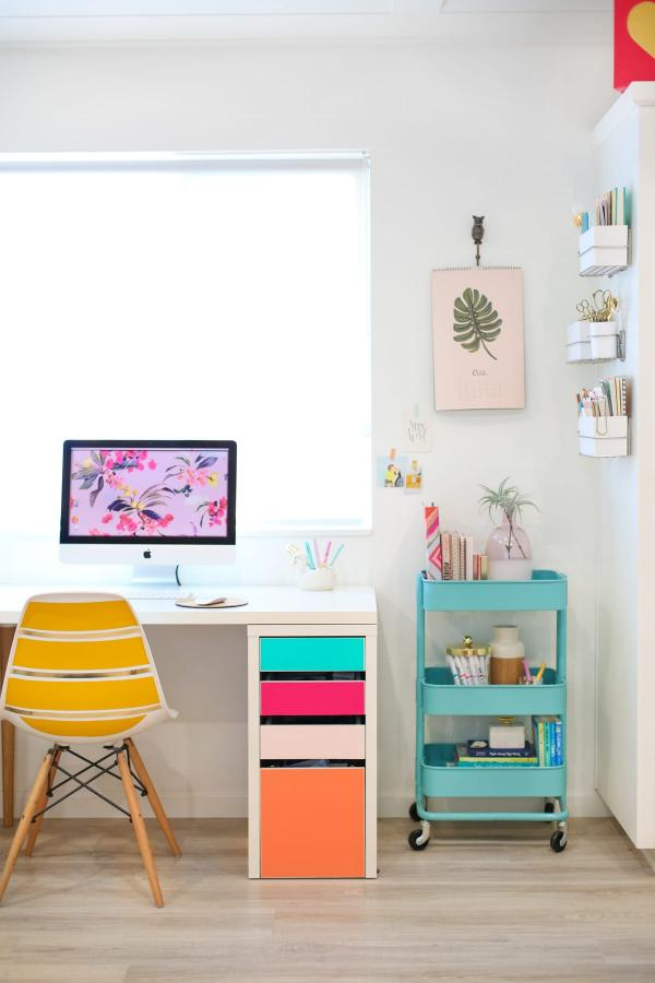 Ikea Colorful Drawers Desk Hack