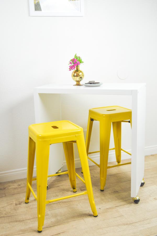 Ikea KALLAX Kitchen Rolling Breakfast Table Hack