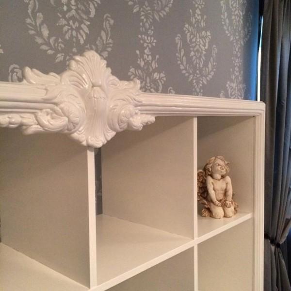 Ikea Kallax Embellished Shelf Hack
