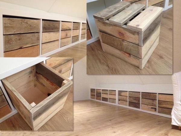 Ikea Kallax Rustic Wood Storage Hack