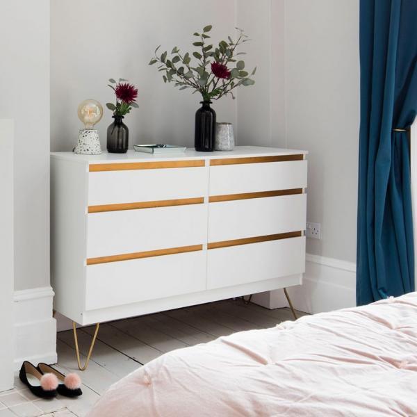Ikea Malm Gold Trim Dresser Hack