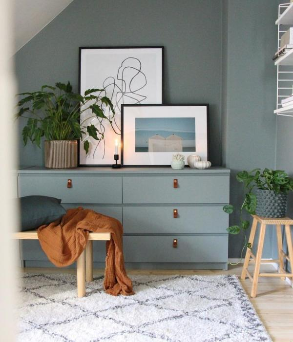 Ikea Malm Gray and Leather Hack