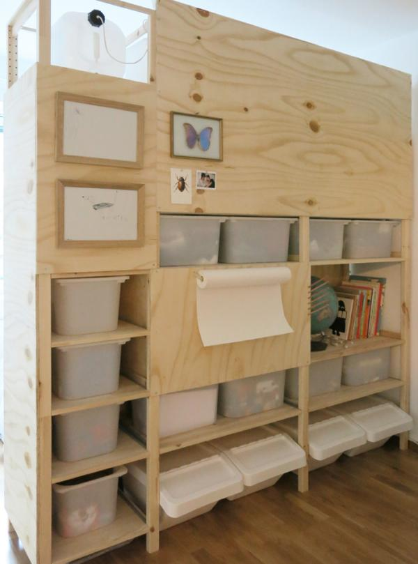 Ikea Room Divider Storage Hack