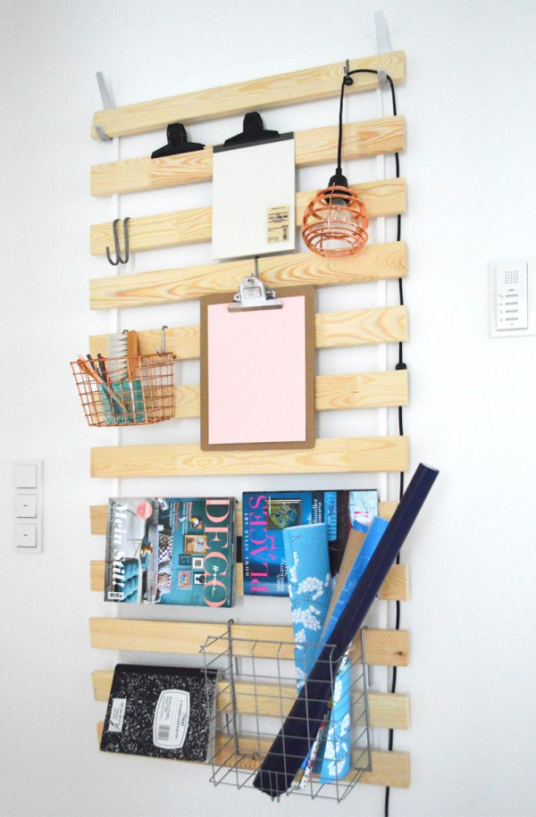 Ikea Slatted Wall Rack Storage Hack