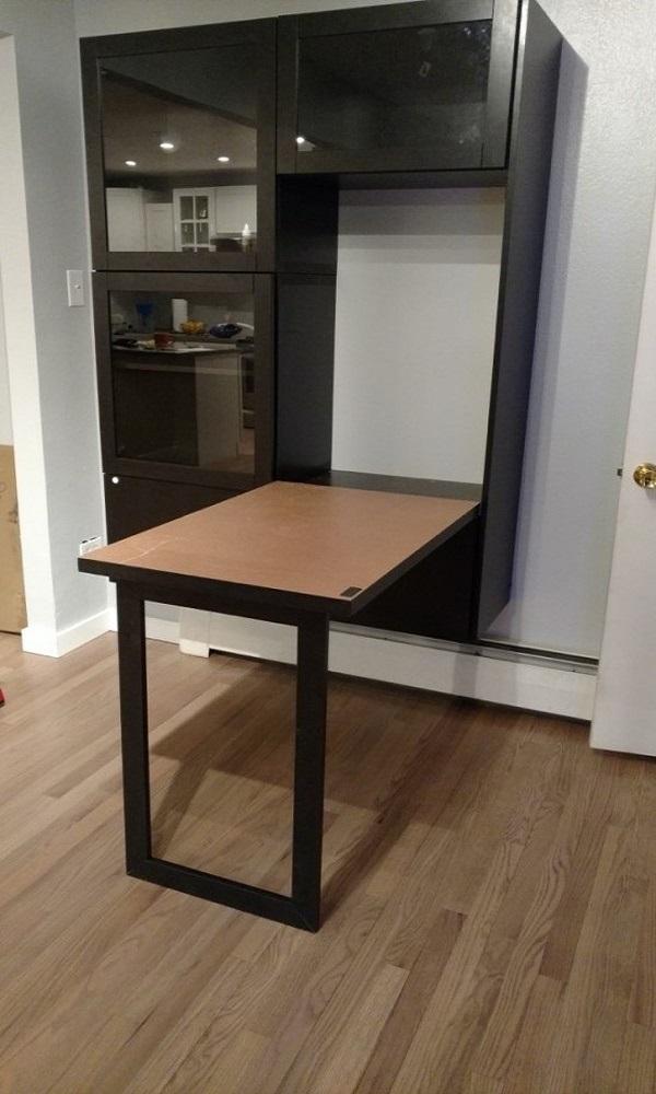 Ikea Spacesaving Desk Hack