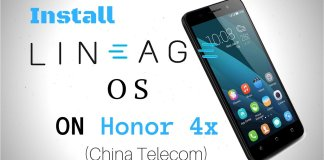Lineage OS 14.1 for Honor 4x China Telecom