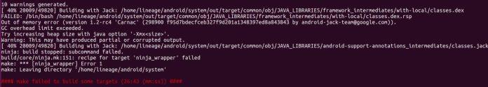 Jack Compiler Java heap size error