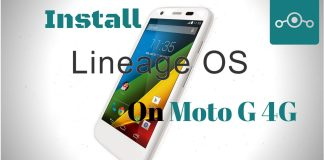Lineage OS on Moto G 4G