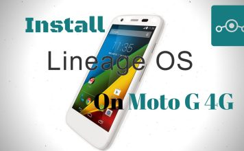 Lineage OS onMoto G 4G
