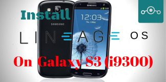 Install Lineage OS 14.1 On Samsung Galaxy S3 (i9300)